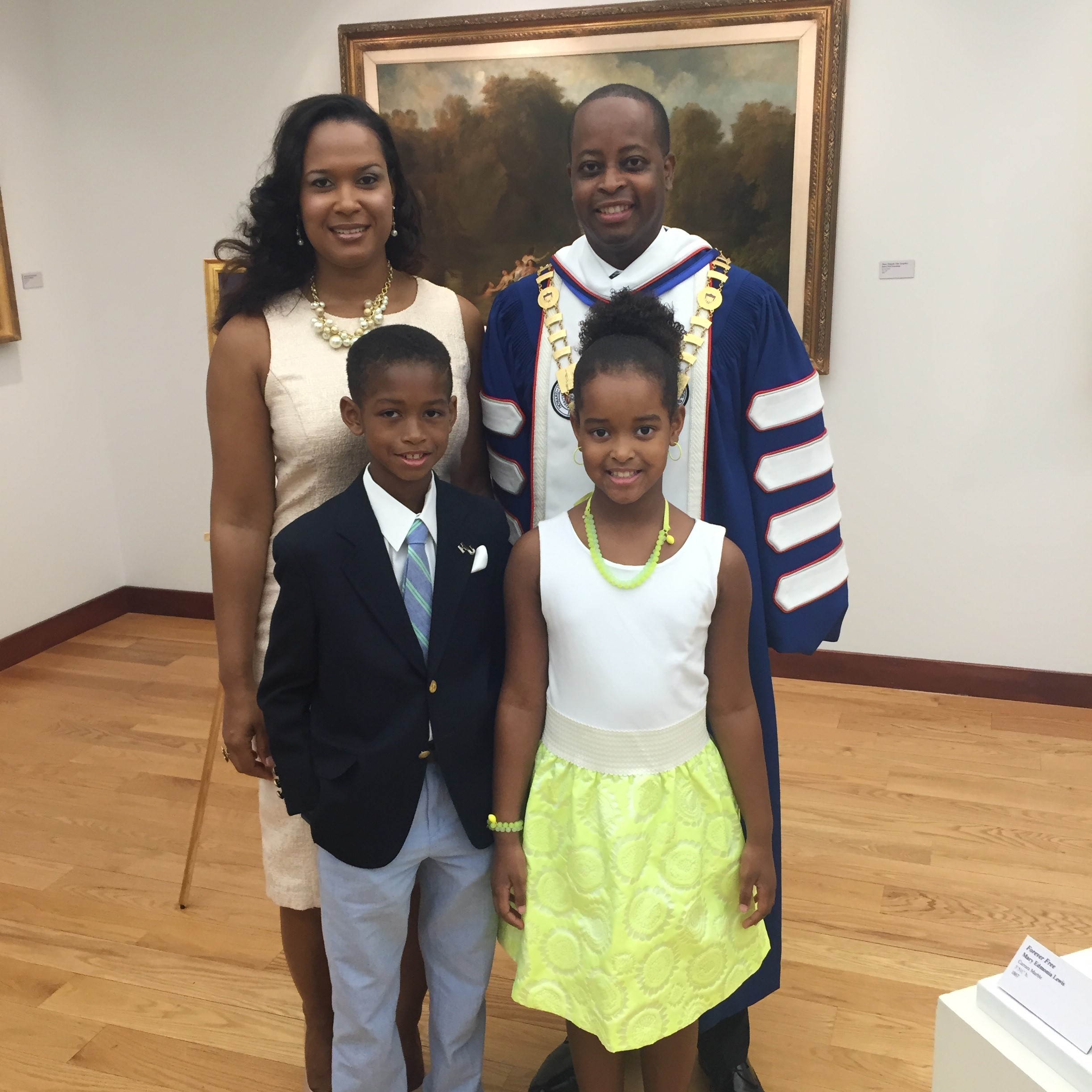 president of howard university is dedicated to the cause the dr and mrs frederick and their two adoring kids