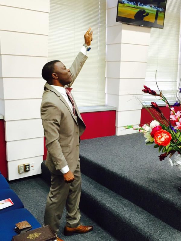 Assistant Pastor Jean Paul Ntap appreciating the glory of Jesus Christ.