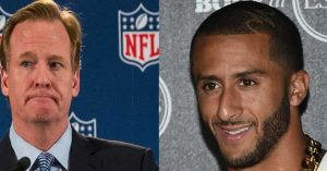 NFL Commissioner Roger Goddell tries to intimidate Kaepernick to stop his act of civil disobedience.