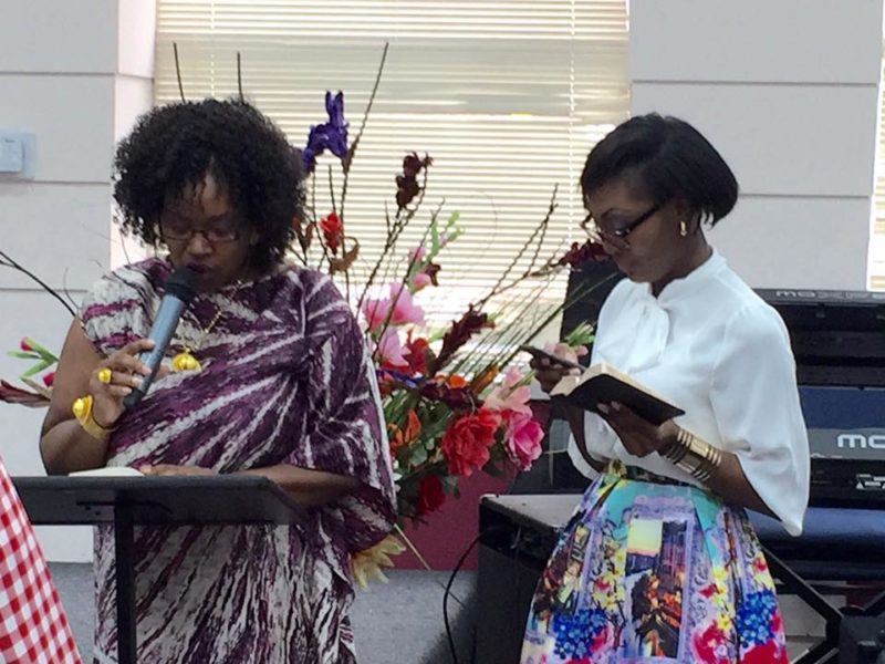 Two prominent members of the Amazing Love Church Ministry choir, Ms. Dolores Cox and Ms. Michelle Tchatat.